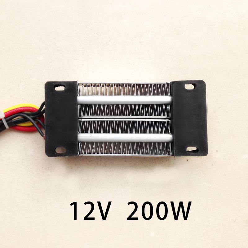200W AC/DC 12V  Insulated PTC Ceramic Air Heater Constant Temperature Heating Element  Incubator 120*50mm