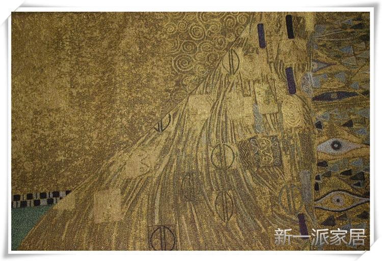 138*138 высокое качество крученый Золотой Австрия Густав Климт Адель настенный гобелен Текстиль для дома художественная Живопись Ткань - 3