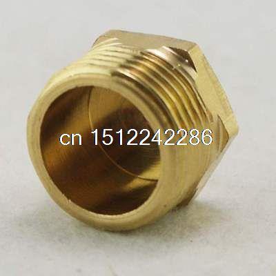 4PCS 3/4Threaded pipe Hex Head Brass Plug Pneumatics Hydraulics Fittings 3 8 bsp female thread brass pipe countersunk plug hex head socket pipe fittings end cap