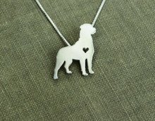 10PCS- Love My Dog Necklace with Heart Standing Silhouette Shape Necklace Outline Pet Puppy Animal Necklaces for Gift