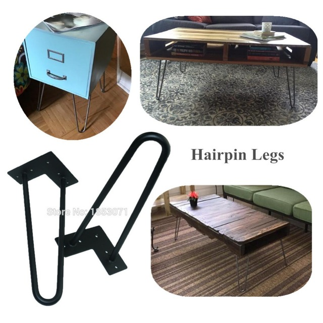 Heavy Duty Black Metal Coffee Table Legs 12 Inches 1 2 Dia 2rods Furniture