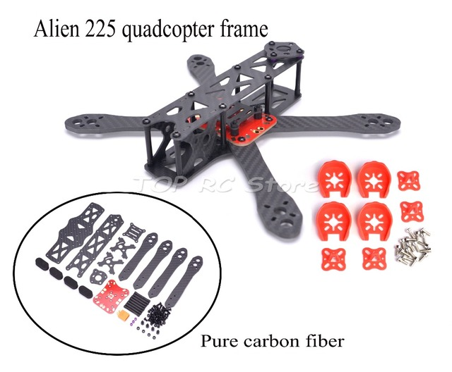 Alien FPV quadcopter frame 225 225mm DIY cross racing mini drone ...