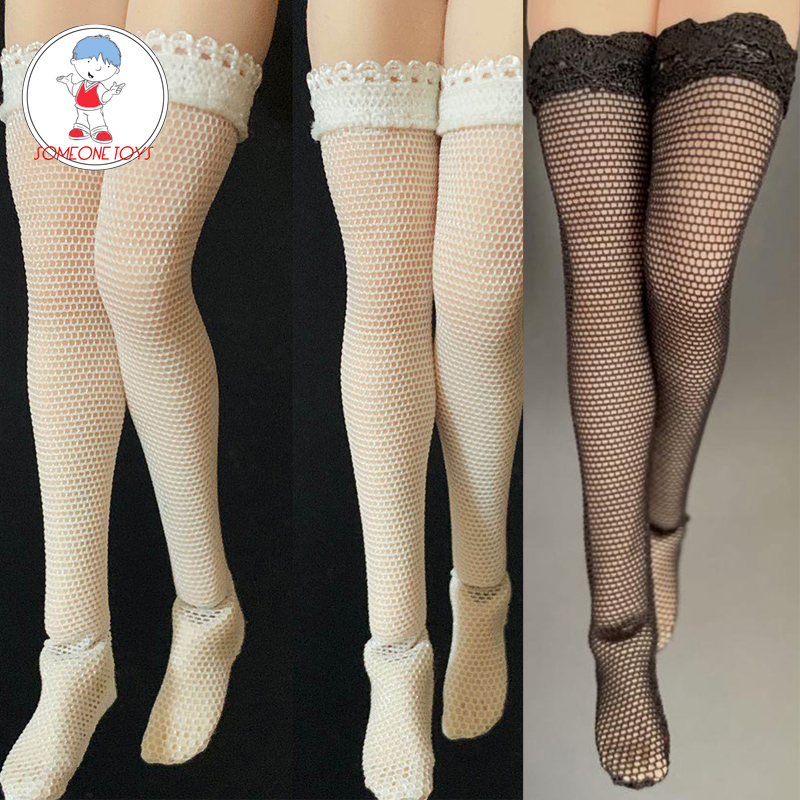 "1//12 Scale Black Lace Fish Net Stockings Clothes Fit 6/"" Female Figure Body Model"