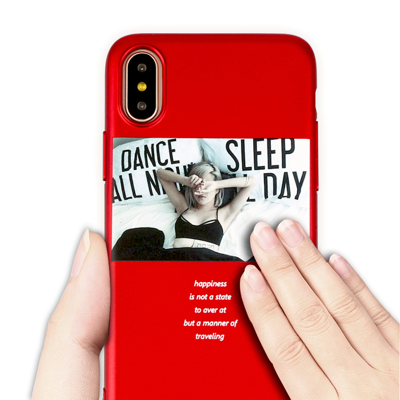 2018 Fashion Pattern Mobile Phone Cover Case for funda iPhone X 10 iPhoneX 6s 7 8 Plus 7Plus iP Red coque full body accessories