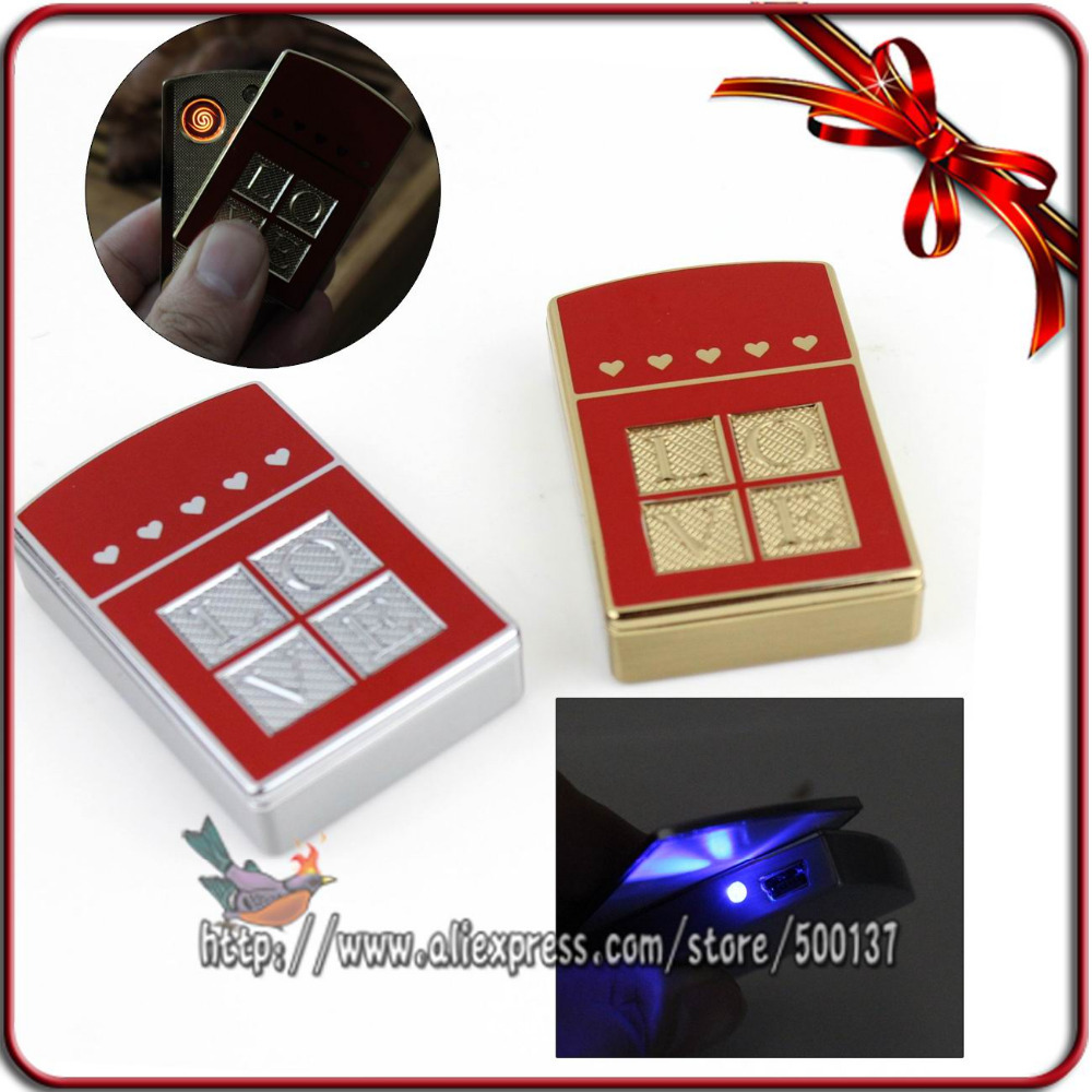 FIREDOG Love Design To your Lover Rechargeable Windproof Flameless Cigar Cigarette Metal Electric USB Gadget Gift