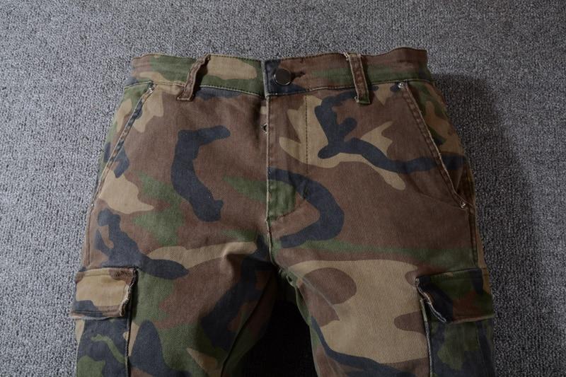 Acquista American Streetwear Moda Uomo Jeans Pantaloni Mimetici Big Tasche Pantaloni Cargo Hombre Slim Hip Hop Jeans Strappati A $62.12 Dal Blueegg |