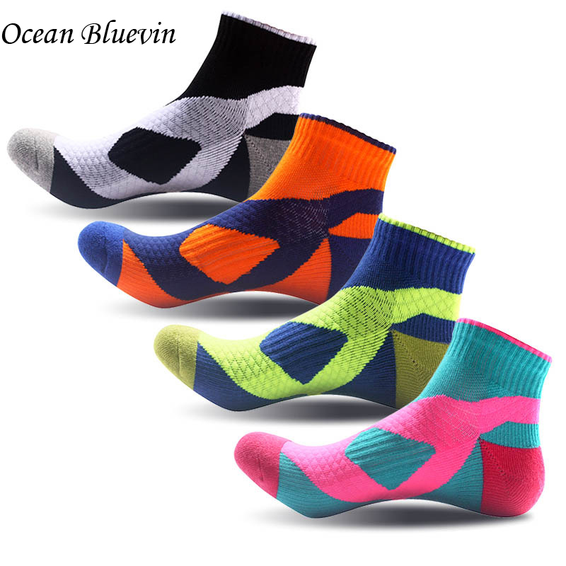 5 Pairs/ Lots Quality Breathable Comfort Men Socks Quick-drying Wearable Ankle Pressure Socks Bright Color Thicker Cotton Sock