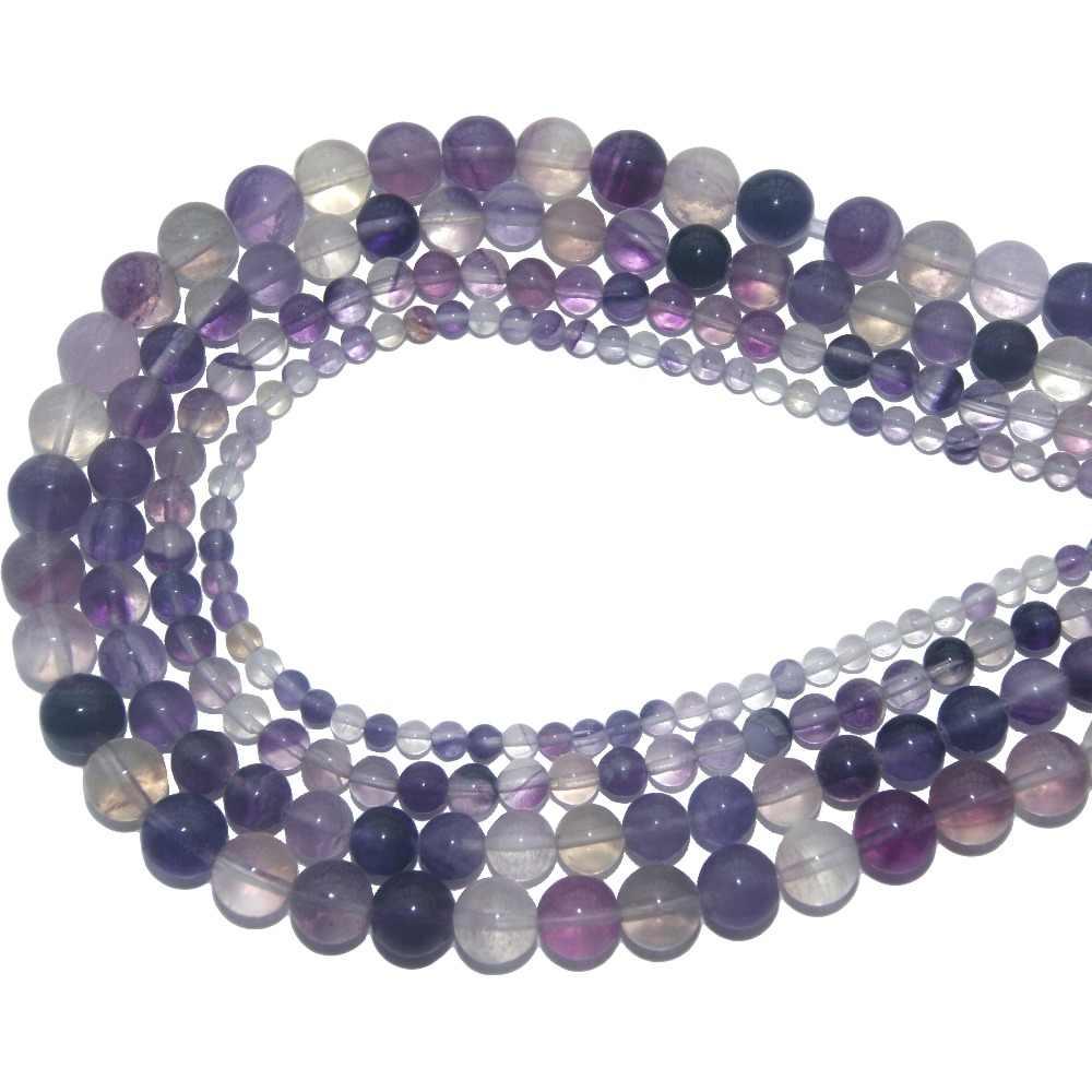 OMH al por mayor 4 6 8 10 MM piedra Agates cristal Jades Ojo de Tigre rocas volcánicas cuentas joyería fabricación Diy collar pulsera ZZ12