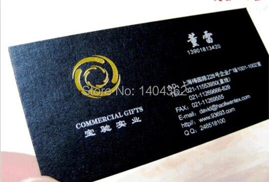 Livraison Gratuite DHL Personnalis 500 Pcs Spcialit Papier 320g Shell Dorure Cartes De Visite Carte Impression
