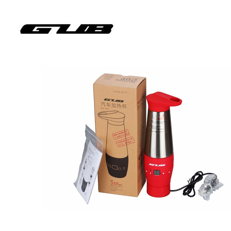 GUB ZN20 Bicycle Water Bottle Car Electric Kettle Stainless Steel 304 Water Heating Cup for Car
