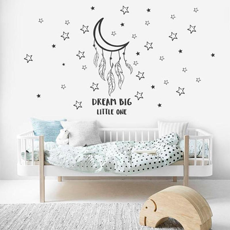 Traum Großen Kleinen Wand Abziehbilder Gute Nacht Wand Aufkleber Für  Kindergarten Mond Mit Sterne Wand Dezember