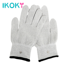 IKOKY Conductive Massage Electric Shock Gloves Erotic Medical Themed Toys Sex Toys for Men Women Electro Stimulation