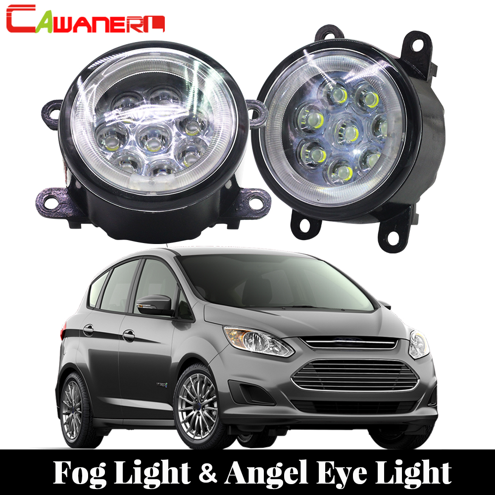 Cawanerl 2 X Car Light Source LED Fog Light Angel Eye Daytime Running Light DRL 12V Accessories For 2010-2015 Ford C-Max 2 MPV кулоны подвески медальоны swarovski 5290187