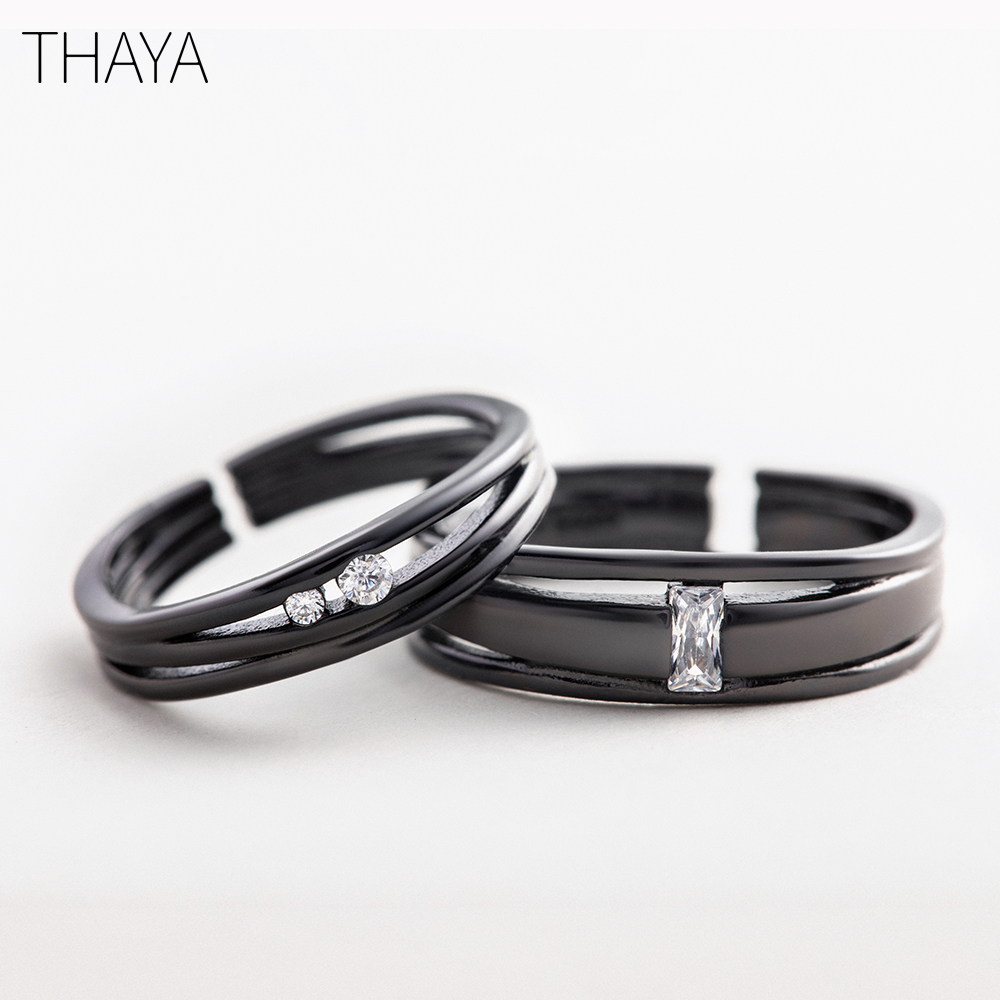 Thaya Until The End Rings S925 Silver Sterling Silver Simple Personality For  Love Anniversary Women Gift