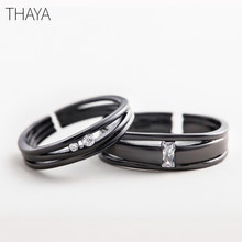 Thaya Until The End Rings S925 Silver Sterling Silver Simple Personality for Love Anniversary Women Gift(China)
