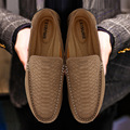 2017 Fashion Brand Men Casual Moccasins Men's Flats Shoes Mens Soft Suede Leather Loafers British Man Loafers Driving Shoes 2A