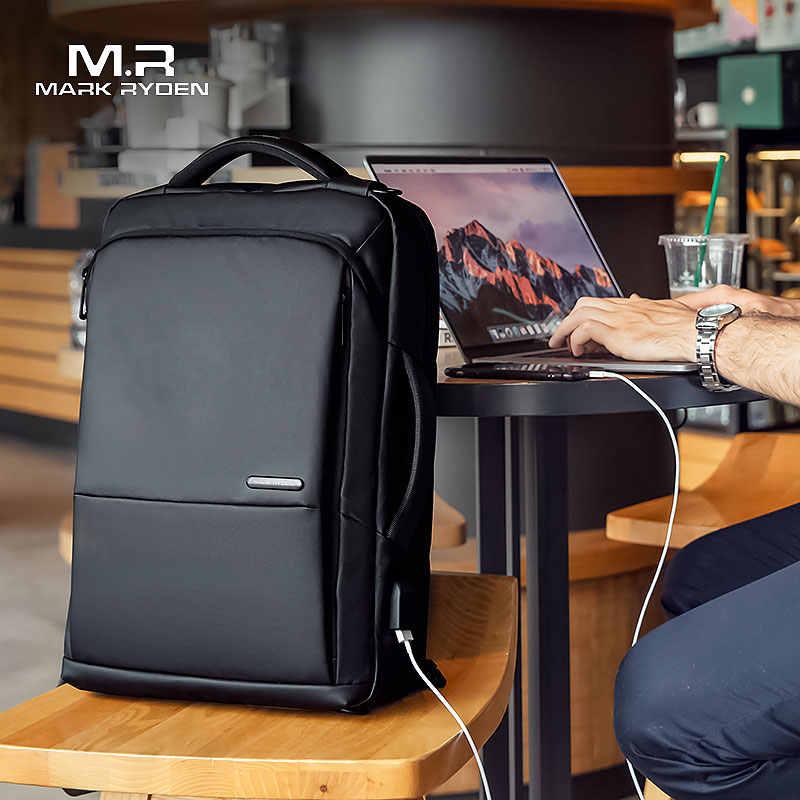 Mark Ryden рюкзак для путешествий большой емкости подростковый мужской Mochila Анти-Вор сумка зарядка через usb 15,6 дюймов рюкзак для ноутбука водонепроницаемый