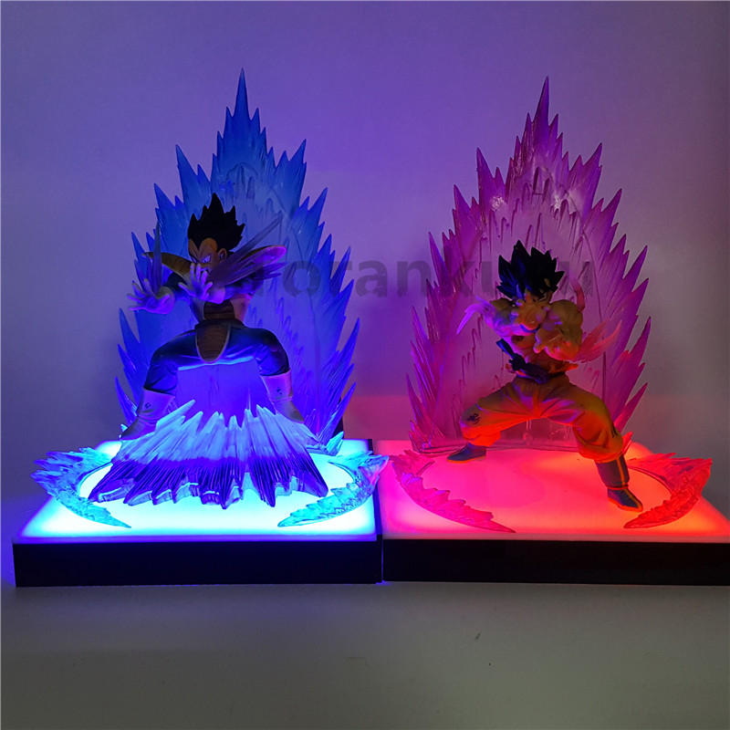 Dragon Ball Z Son Goku Vegeta Super Saiyan Diy Led Lamp Anime Dragon Ball Z Dbz Son Goku Led Lighting Decoration Led Night Lights