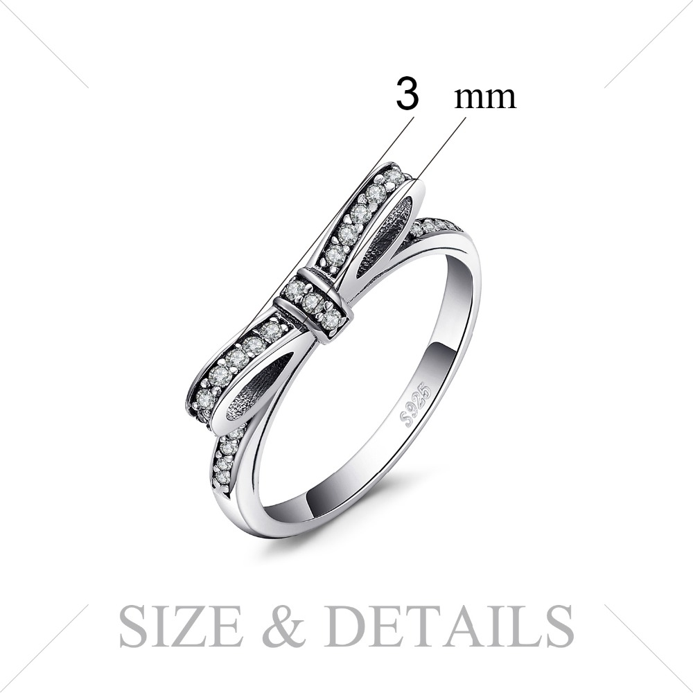 JewelryPalace Bowknot Cubic Zirconia Ring 925 Sterling Silver Rings for Women Stackable Ring Silver 925 Jewelry JewelryPalace Bowknot Cubic Zirconia Ring 925 Sterling Silver Rings for Women Stackable Ring Silver 925 Jewelry Fine Jewelry