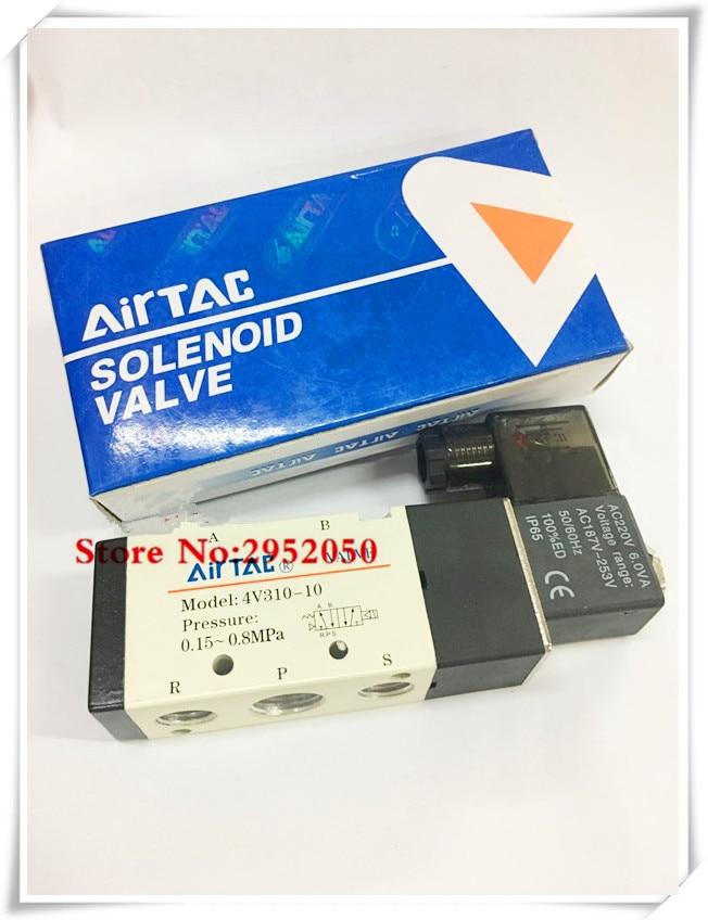 Free shipping Airtac Solenoid Valves Air Gas Control Valve 3/8 BSP 2 Position 5 Port 2/5 Way 4v310-10 12V 24V DC 110V 220V AC free shipping vi jt3 cx dc dc 110v 24v 75w page 1 page 3
