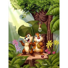 Diy Diamond Painting New Full Diamond Two Squirrel 3D Diamond Pattern Picture Diamond Embroidery Mosaic Cross Stitch Home Decora коньки ледовые x match прогулочные подсветка р 32 35 мал 64592