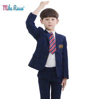 2019 kids suits for Boys girl clothes set plaid blazers boy suit jackets children formal wedding party outfit teenage costume
