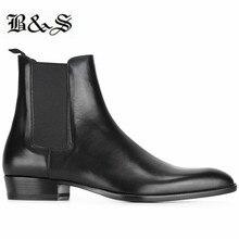 Черные и уличные мужские черные ботинки «Челси» из коровьей кожи на танкетке удобные модельные туфли ручной работы на каблуке 3 см с острым носком