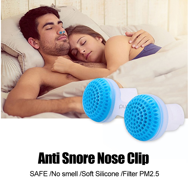 Soft Silicone Washable Anti Snore Nose Clip & Filter PM2.5 No smell Safe Comfortable Stop Snoring Device Sleep Aid 2018 Newset