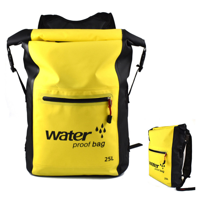 25L Waterproof Dry Backpack Durable Swimming Rafting Kayaking Camping Floating Sailing Canoe Boating Folding River Trekking Bags