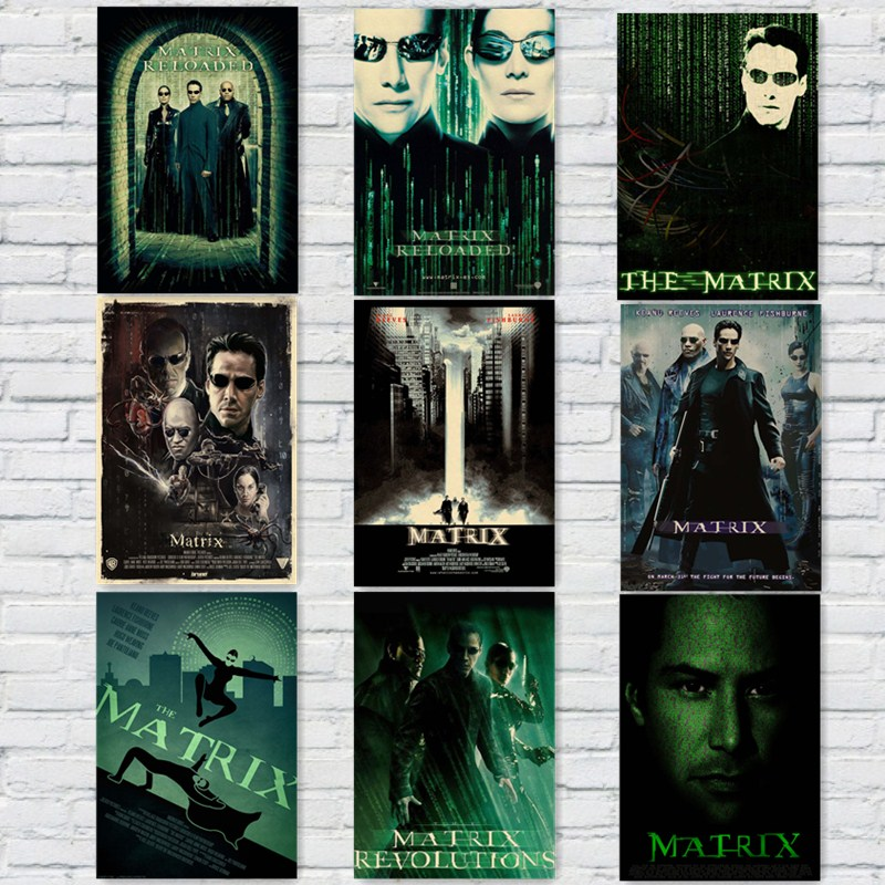 The Matrix Vintage Movie Posters Kraft Paper Prints Wall Stickers Home Decoration Home art Brand MO31
