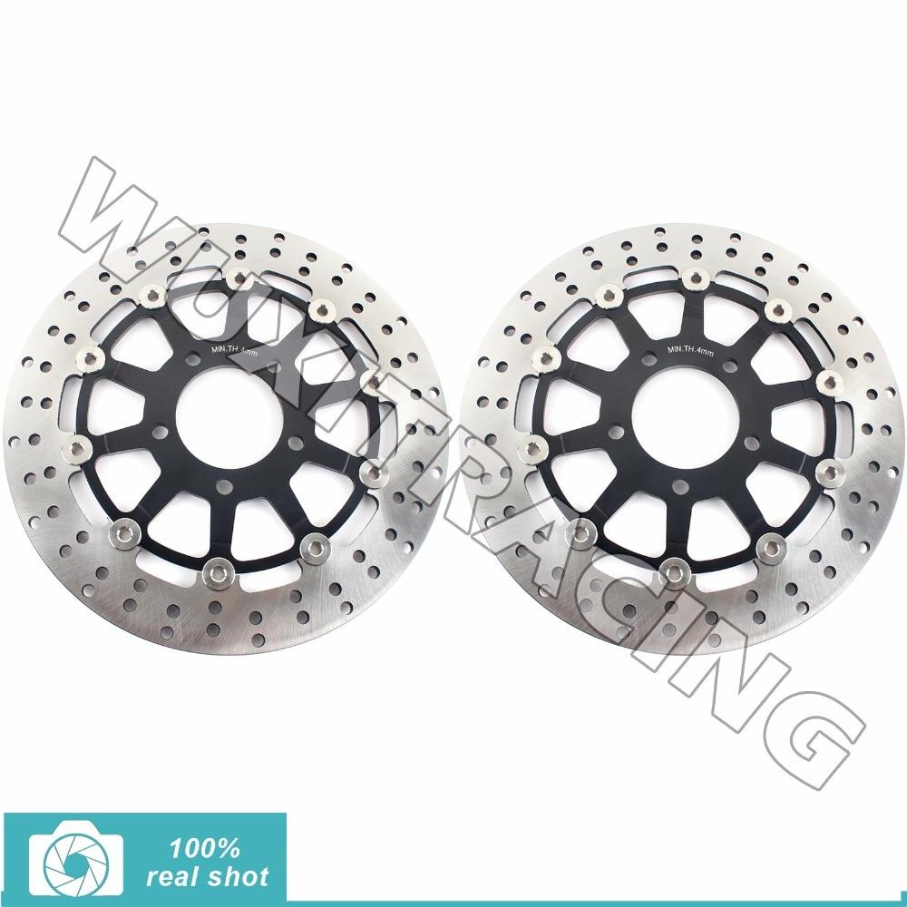 Front brake discs rotors for suzuki gsx 600 750 f katana 03 06 05 gsf
