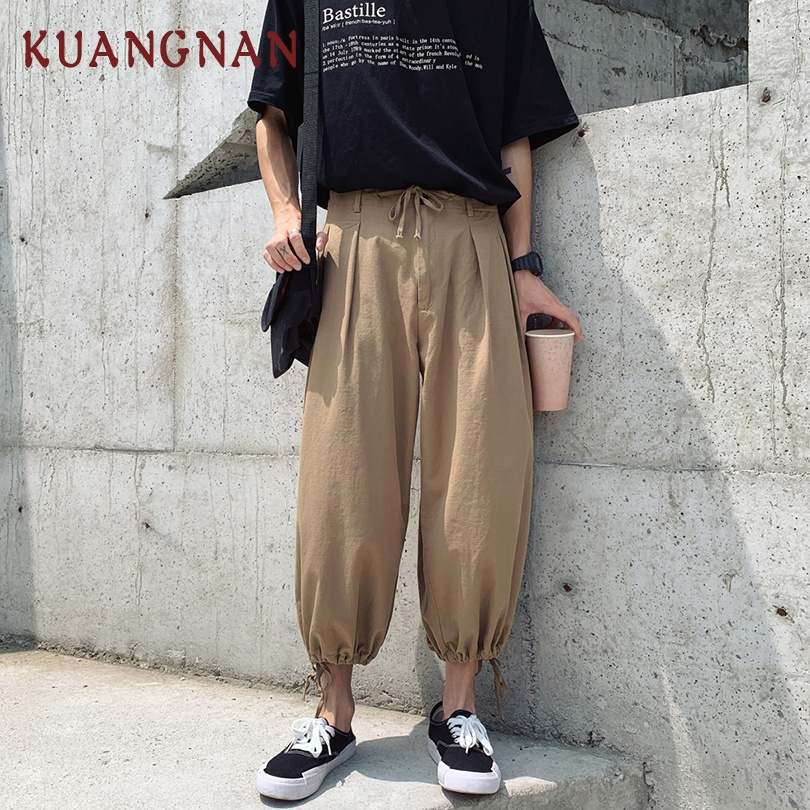 KUANGNAN Joggers Pants Ankle-Length-Pants Men Trousers New Hip-Hop XXL Pop Youth Fashions