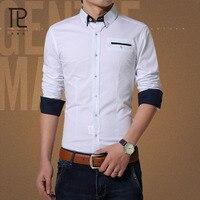 Tailor Pal Love Male Shirts Long Sleeve Men Shirt Brand Clothing Casual Slim Fit Camisa Social
