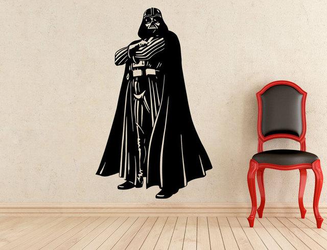 Darth Vader Sticker Parete Della Decalcomania Del Vinile Staccabile Interno di Casa Art Deco Ragazzo Decorazione Della Stanza Cinema Decor Decor CJY19