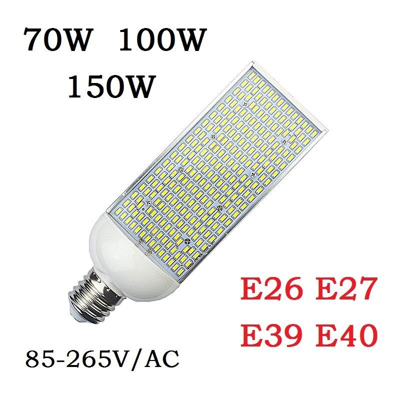 E27 E26 LED corn Bulbs E40 E39 street Lamp 70W 100W 150W Cold Warm White high bay Lighting outside parking Poles Lights Lampada