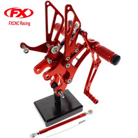 FX CNC Aluminum Adjustable Motorcycle Rearsets Rear Set Foot Pegs Pedal Footrest For YAMAHA YZF R6 1999 2000 2001 2002 Motorbike
