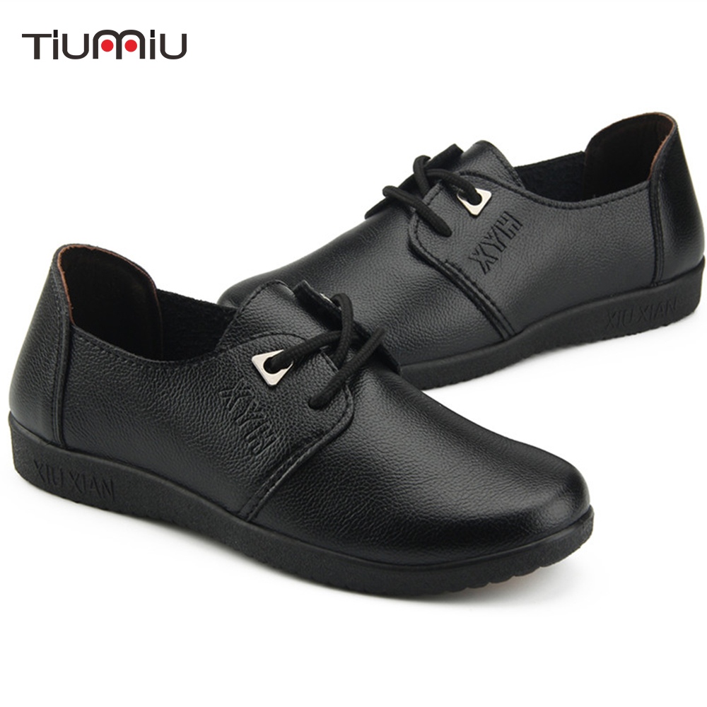 GIRLS LEATHER SCHOOL SHOES.LADIES WORK SHOES,BLACK SUPER COMFORT,WAITRESS,HOTEL,