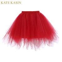 كيت kasin تول توتو تنورة أبيض أسود أحمر الزلات قماش قطني روكابيلي تحتية كاملة زلة ثوب سيدة الداخلية لالعرسان