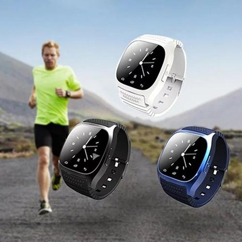 Bluetooth Pedometer Thermometer Music Player Dial Smart Wrist Watch for Phone