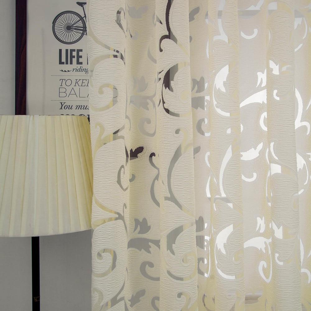 1 Pc Tüll Fenster Tür Vorhang Drapieren Panel Sheer Schal Schabracken Für Wohnzimmer Vorhänge Dekorative Windows Bildschirm #008 Extrem Effizient In Der WäRmeerhaltung