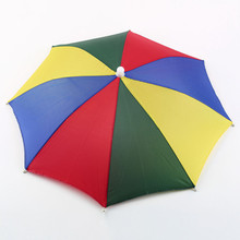 1PC Portable Useful Umbrella Hat Sun Shade Waterproof Outdoor Camping Hiking Fishing Festivals Parasol Foldable Brolly Cap