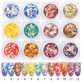 BORN PRETTY 12 Colors Set Fish Scale Nail Sequins Glitter Rhombus Paillette Manicure Nail Art Decoration