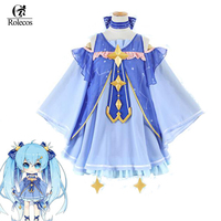 2017 Vocaloid Miku Cosplay Costumes Vocaloid Season Collection Snow Songs Cosplay Costumes Snow Miku Project DIVA