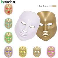 Beurha 7Colors Light Photon Electric LED Facial Mask Skin Care Skin Rejuvenation PDT Anti Acne Wrinkle