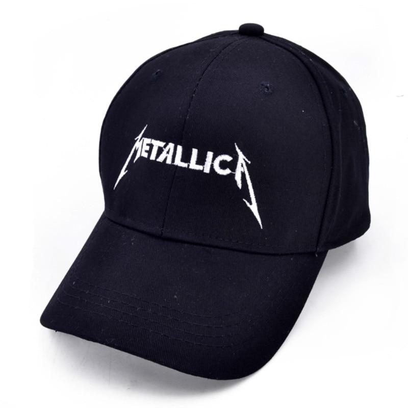Metallica King of metals Baseball cap Heavy metal Alphabet embroidery METALLICA hip-hop cap rock hat metallica metallica monsters of rock broadcast moscow russia 1991