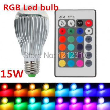 2017 New arrival LED RGB Bulb E27 15W Remote Control Color Changing LED Wall Light Bulb RGB 16 Color Lamp 85-265V 15w e27 led rgb light dimmable bluetooth app control mp3 music bulb color changing smart lamp