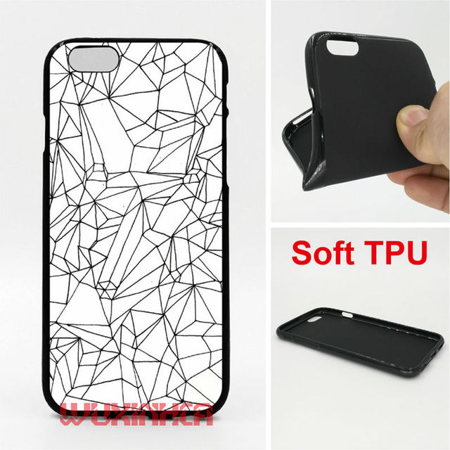 Cracked White Marble Phone Cases Soft TPU For IPhone 6 7 Plus SE 5S 4S Touch