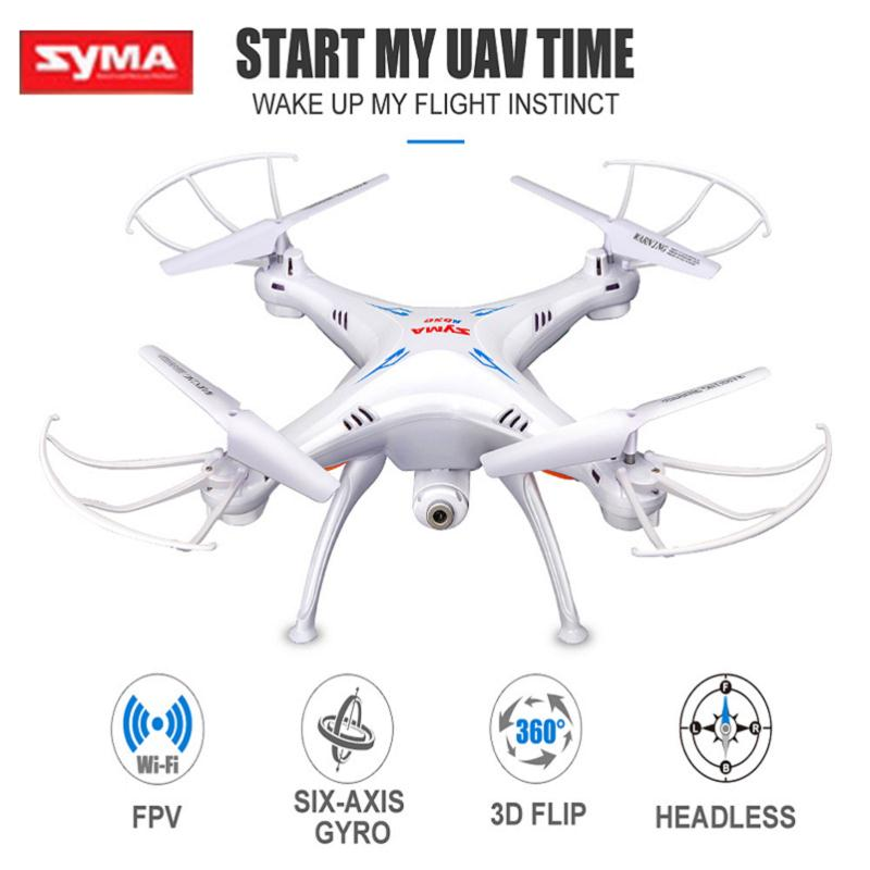 Syma X5SW HD Video Camera Aerial RC Drone FPV Wifi 2.4G 4CH 6 Axis Quadcopter Remote Control Helicopter UFO Toys For Children syma x8w rc drone wifi fpv camera hd video remote control led quadcopter toy helicoptero air plane aircraft children kid gift