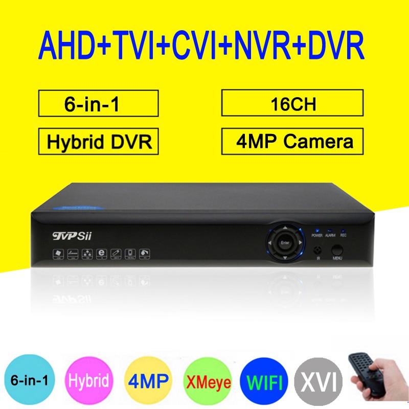 4MP 5MP Surveillance Camera Blue Ray XMeye Hi3531D 16CH 6 in 1 Wifi Hybrid Coaxial Onvif