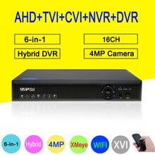 4MP 5MP Surveillance Camera Blue-Ray XMeye Hi3531D 16CH 6 in 1 Wifi Hybrid Coaxial Onvif NVR CVI TVi AHD CCTV DVR Free shipping